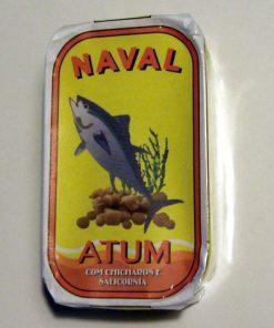 """Portugalskie filety z tuńczyka Naval w oliwie z """"chicharos"""" i """"salicornią"""" 120g"""